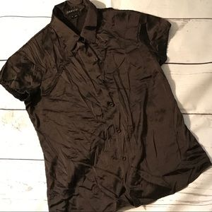 NWOT Theory Button Down Short Sleeve Button-Up Top